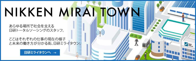 日研ミライタウン|日研トータルソーシング 設立40年特設サイト