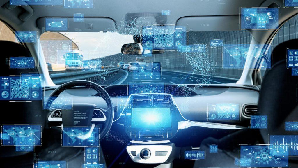 未来の車の車内